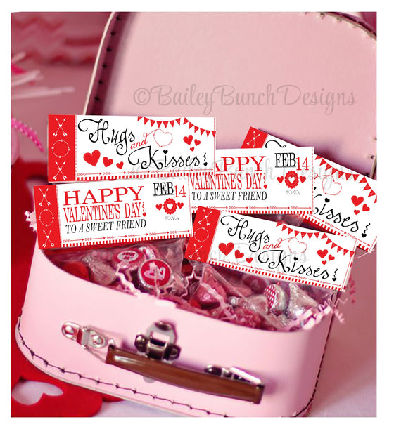 Hugs & Kisses Bag Toppers, Valentines VDAYKISS0520