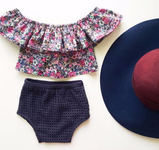 Baby/Toddler Floral Shirt/Bloomer Set