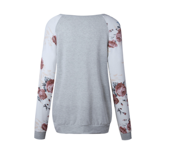 Women's Pullover - White Floral