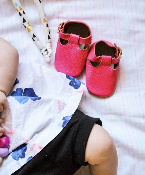 Baby T-Strap Shoes - Hot Pink