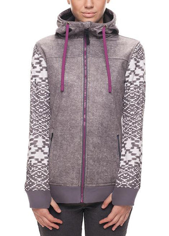686 WOMENS ELLA ZIP BONDED FLEECE - CHARCOAL - 2018 - Boardwise