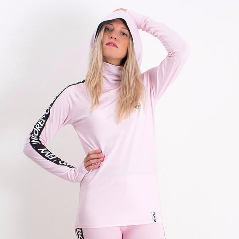 EIVY ICECOLD HOODED THERMAL TOP DUSTY PINK