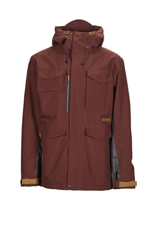 SESSIONS RANSACK INS SNOWBOARD JACKET - MAROON - 2019