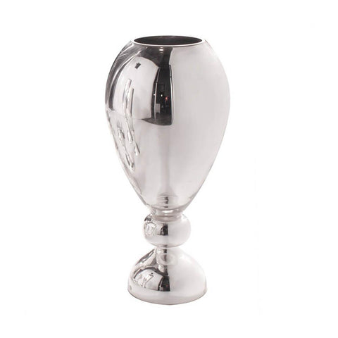 Silver Hand Blown Glass Vase