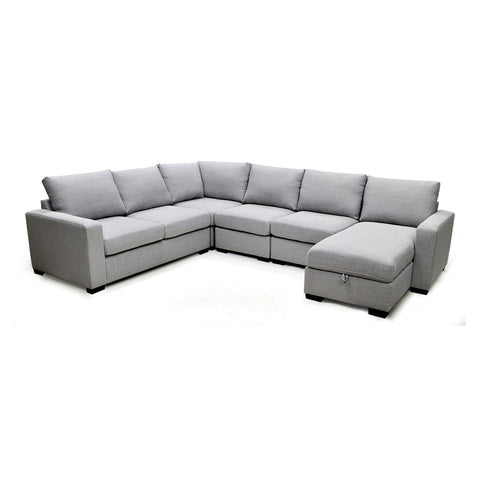 Fabric Sectional Sofa with Storage Chaise - 7257