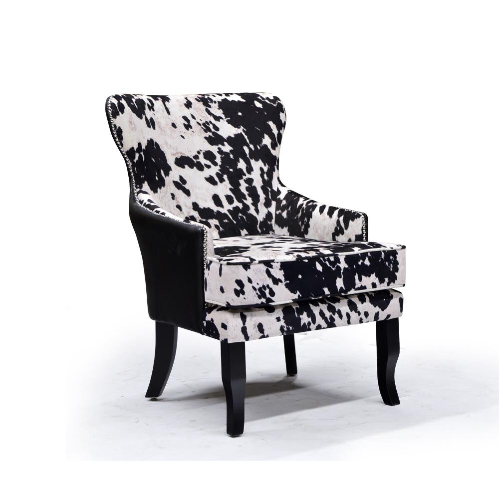 Cow Hair Looking Accent Chair - Angus II