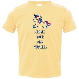 Create Your Own Miracles - Inspirational Kids Shirts & Hoodies (Purple Unicorn)