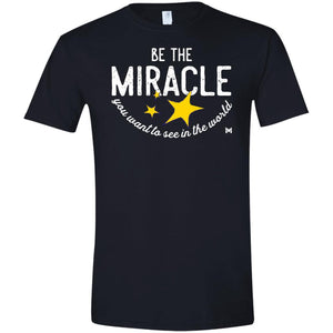 Be The Miracle - Men's Shirts-Apparel-Softstyle Tee-Black-S-The Miracles Store