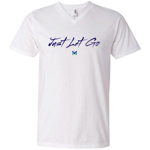 Just Let Go - Basic Men's Shirts-Apparel-Men's V-Neck-White-S-The Miracles Store