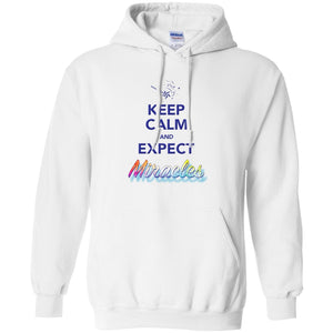 Keep Calm and Expect Miracles Pullover Hoodie - Hoodies - White - Small -