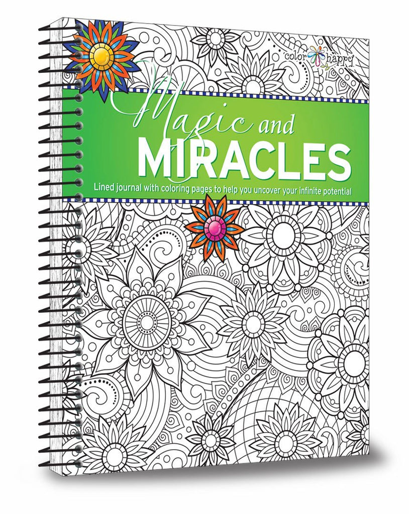 """Magic and Miracles"" Coloring Book & Lined Journal - Open Your Mind To More Miracles - Journals - - -"
