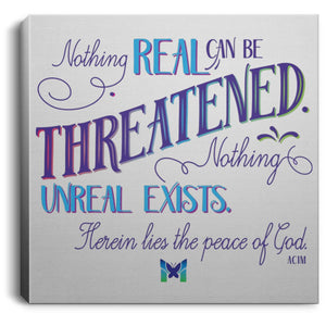 "Nothing Real Can Be Threatened - Canvas Wall Art-Housewares-8"" x 8"" (Extra Small)-The Miracles Store"
