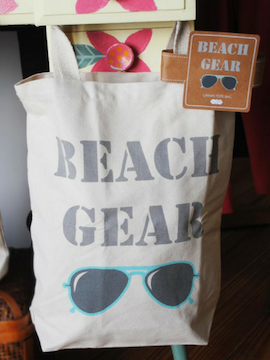 Beach Gear- Beach Canvas Tote - Summertime Boutique