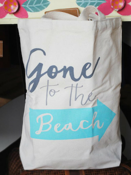 Gone To The Beach - Beach Canvas Tote - Summertime Boutique