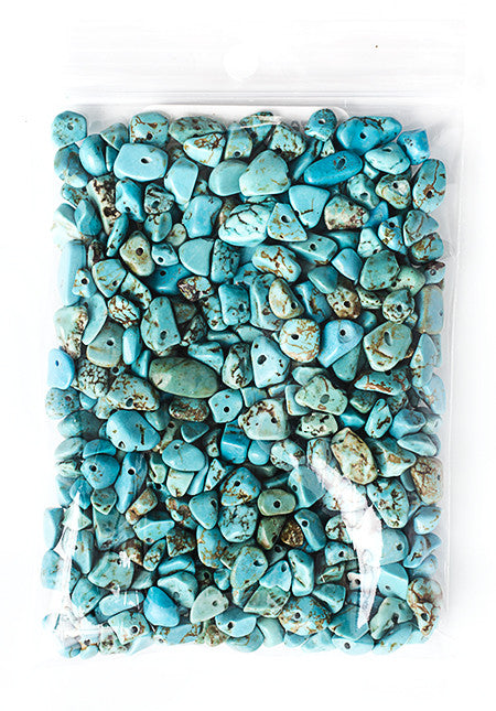 100g Semi-Precious Loose Chips - Turquoise Mix (SP044)