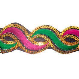 "1.2"" or 1.9"" Twist Sequin Trims - Pink/Green"
