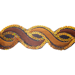 "1.2"" or 1.9"" Twist Sequin Trims - Light Brown/Brown"