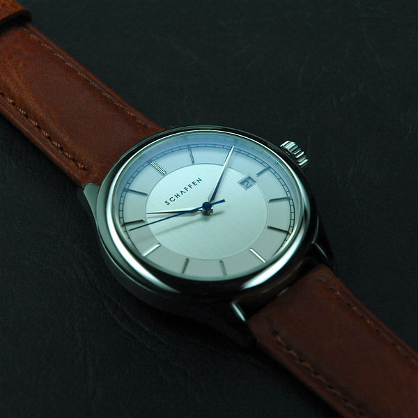 A65 Dress Watch with white dial & blue seconds hand