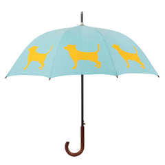 Chihuahua Umbrella Tangerine on Baby Blue - sfumbrella.ca