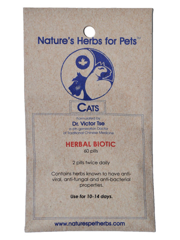 Natures Herbs for Pets, Herbal Biotic for Cats, 40 ct