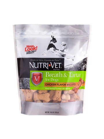 Nutri-Vet, Breath and Tartar Biscuits, 19.5 oz