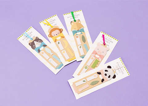Kawaii Animal Bookmark