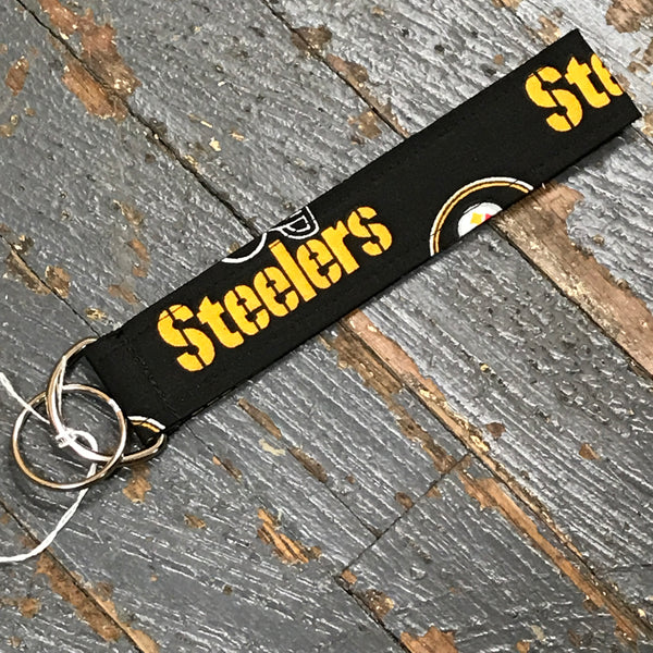 Handmade Key Chain Fob Lanyard NFL Football Pittsburgh Steelers