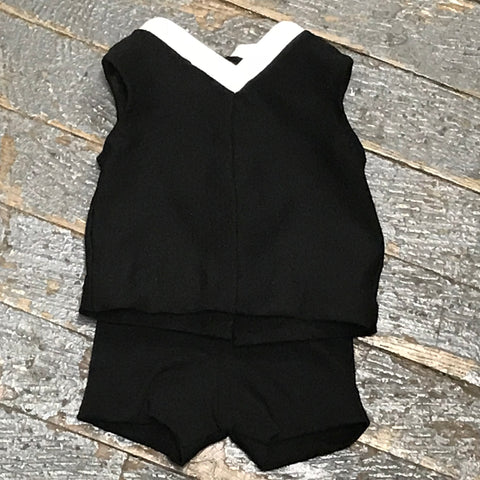 "18"" Doll Clothes Outfit Black Athletic Sports Tank and Short"