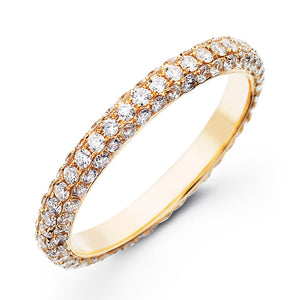 Pavé Stackable Eternity Ring