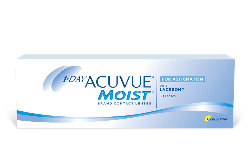 1 DAY ACUVUE MOIST for Astigmatism - 30 Pack Contact Lenses $38.99 Express Post