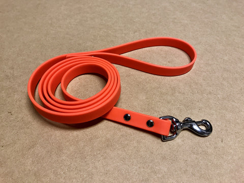 Argos Gear Orange Cretan Dog Leash - Leashes - Argos Dog Gear - Made in the USA - Guaranteed for Life - Ready for Every Adventure - Copyright all rights reserved