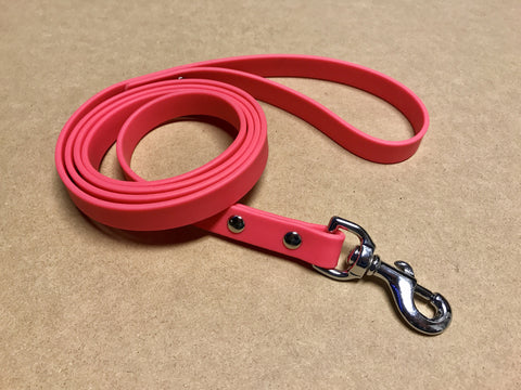 Argos Gear Pink Cretan Dog Leash - Leashes - Argos Dog Gear - Made in the USA - Guaranteed for Life - Ready for Every Adventure - Copyright all rights reserved