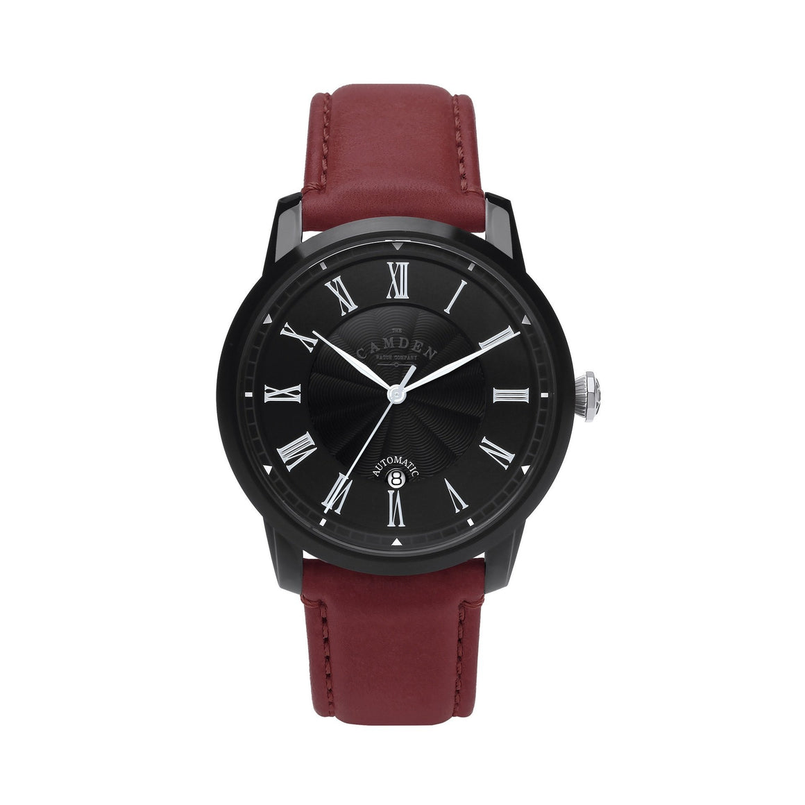 No.29 Automatic Black Case and Oxblood Leather Watch