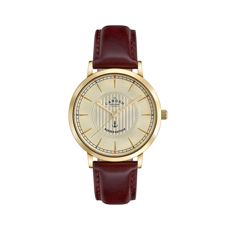 No.27 Camden x Thy Barber Gold and Oxblood Watch