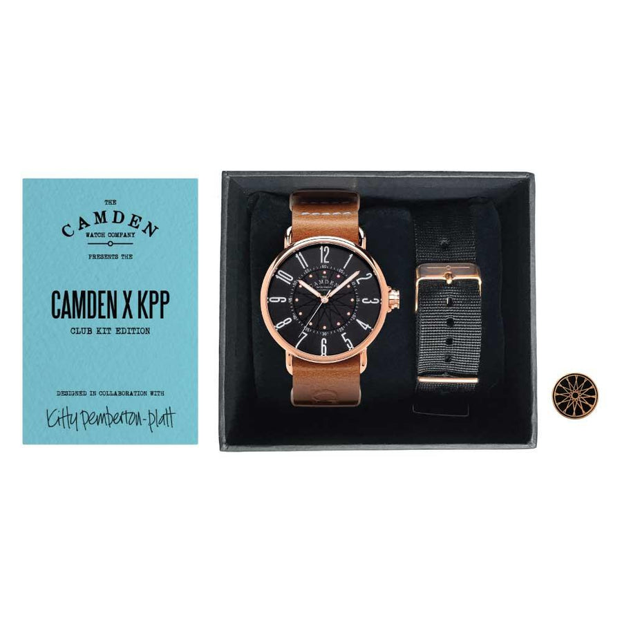 No.88 Rose Gold Unisex Camden Cycling British Watch