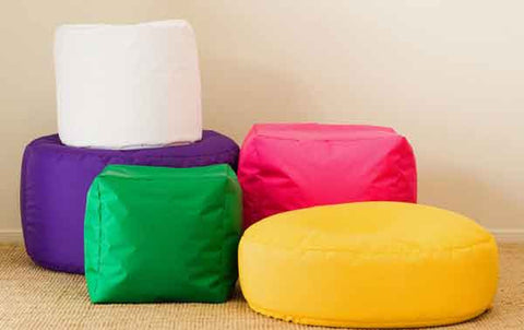 collection of footstools in tech nylon fabric