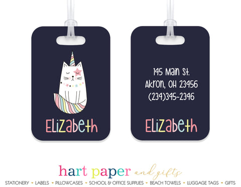 Cat Unicorn Caticorn Luggage Bag Tag School & Office Supplies - Everything Nice