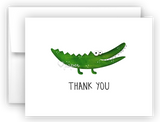 Alligator Thank You Cards Note Card Stationery •  Flat, Folded or Fill-In-the-Blank Stationery Thank You Cards - Everything Nice