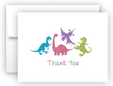 Dinosaur Thank You Cards Note Card Stationery •  Flat, Folded or Fill-In-the-Blank Stationery Thank You Cards - Everything Nice