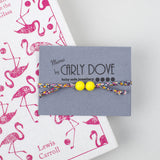 Liberty and silicone bracelet: Pink pepper **LIMITED EDITION**