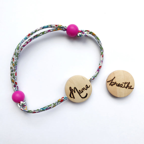 Liberty and silicone bracelet: Mama