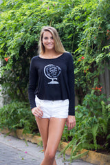 Women's Long Sleeve Flowy Crewneck