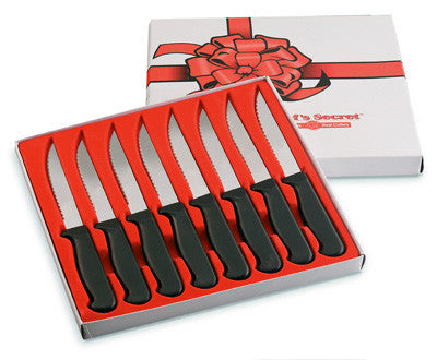 Chefs Secret 8 Piece Steak Knife Set Surgical Stainless Steel CTCS8 Free Shipping - House Home & Office - Fits My Budget