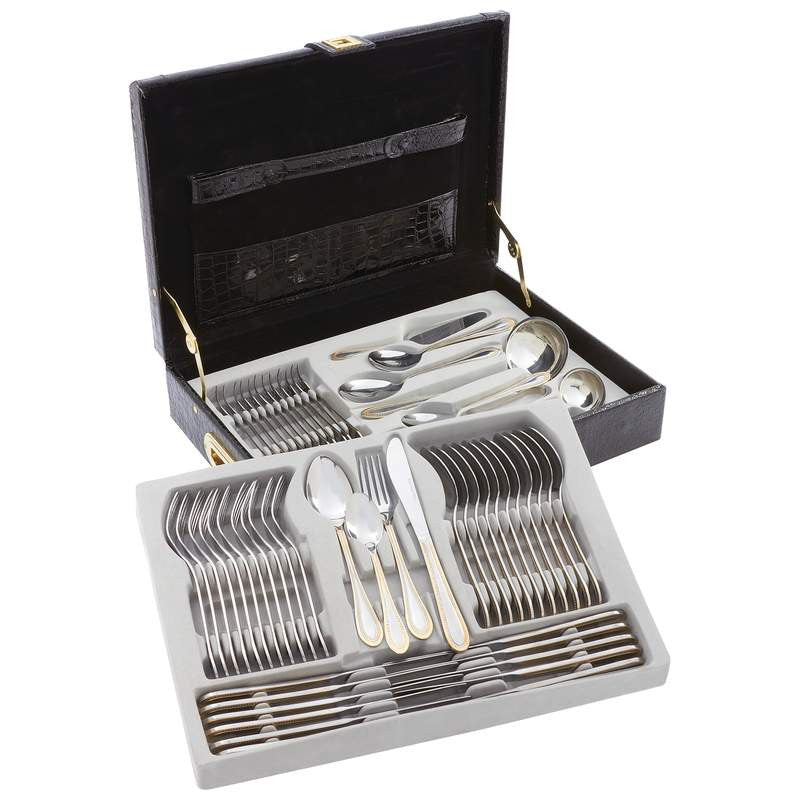 Sterlingcraft FW72G Flatware Set 24 Karat Gold Trim - House Home & Office - Fits My Budget