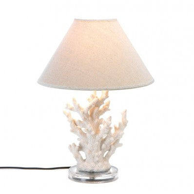 White Coral Table Lamp 10015678 Free Shipping - House Home & Office - Fits My Budget