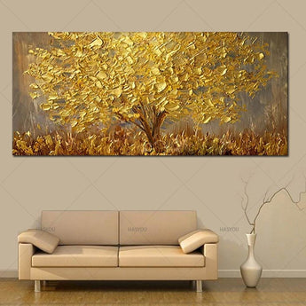 3D Golden Wall Art Oil Painting