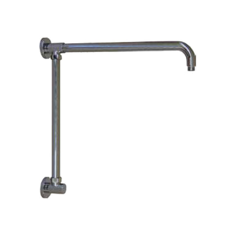 "Opella's 201.170.110 Vertical Riser with 17"" Shower Arm - Chrome"