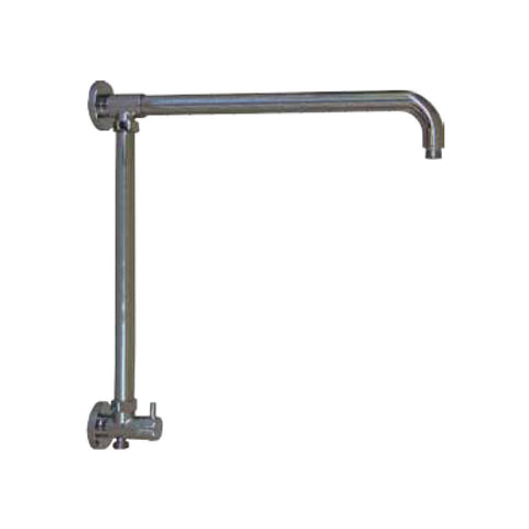 "Opella's 201.175.110 Vertical Riser with 17"" Shower Arm and Built-in Diverter for Hand Shower - Chrome"