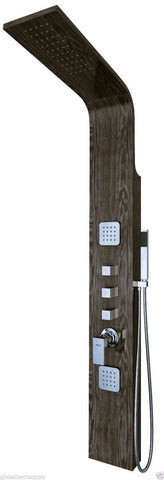 Nezza 2-Jet Tali Wood Grain Rain Shower Panel NPA-009-001-BG - Cloud 9 Shower Heads