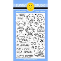 Beach Babies Stamps- Sunny Studio Stamps